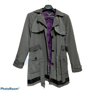Tommy Hilfiger raincoat in gray with black trim